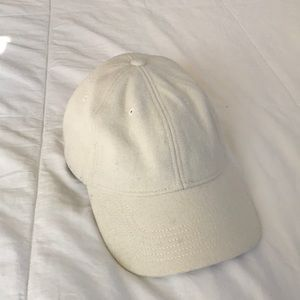 MADEWELL cream wool viscose baseball hat